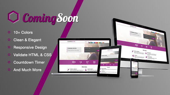 ComingSoon – A Responsive Under Contruction Template