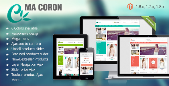 Coron - Fashion Responsive Magento Theme