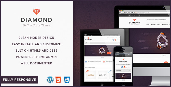 Diamond-Responsive WooCommerce Theme