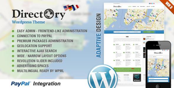 Directory Portal WordPress Theme