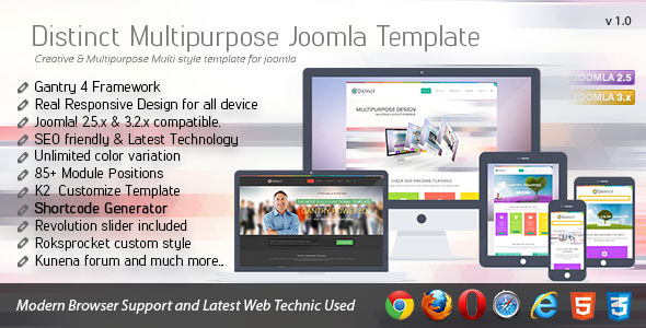 Distinct-Multipurpose-Joomla-Template