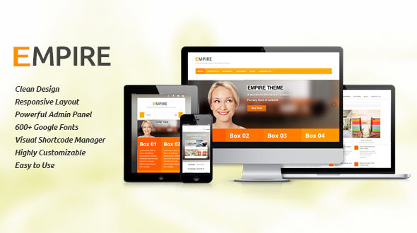 Empire-Clean and Responsive Multipurpose Theme
