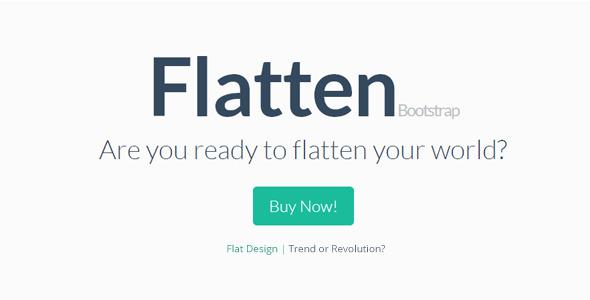 Flatten - Flat Bootstrap Skin