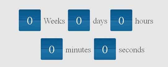 Flipclock Countdown Script