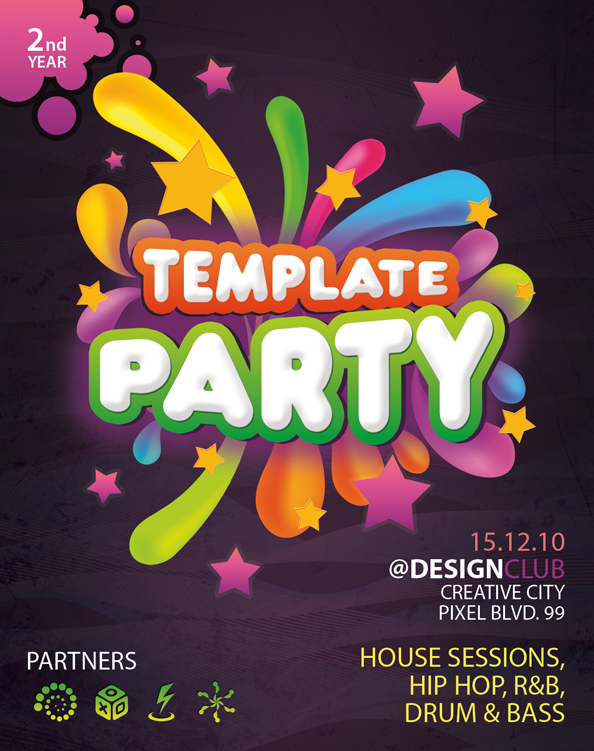 Poster Template Photoshop  BesikEightyCo