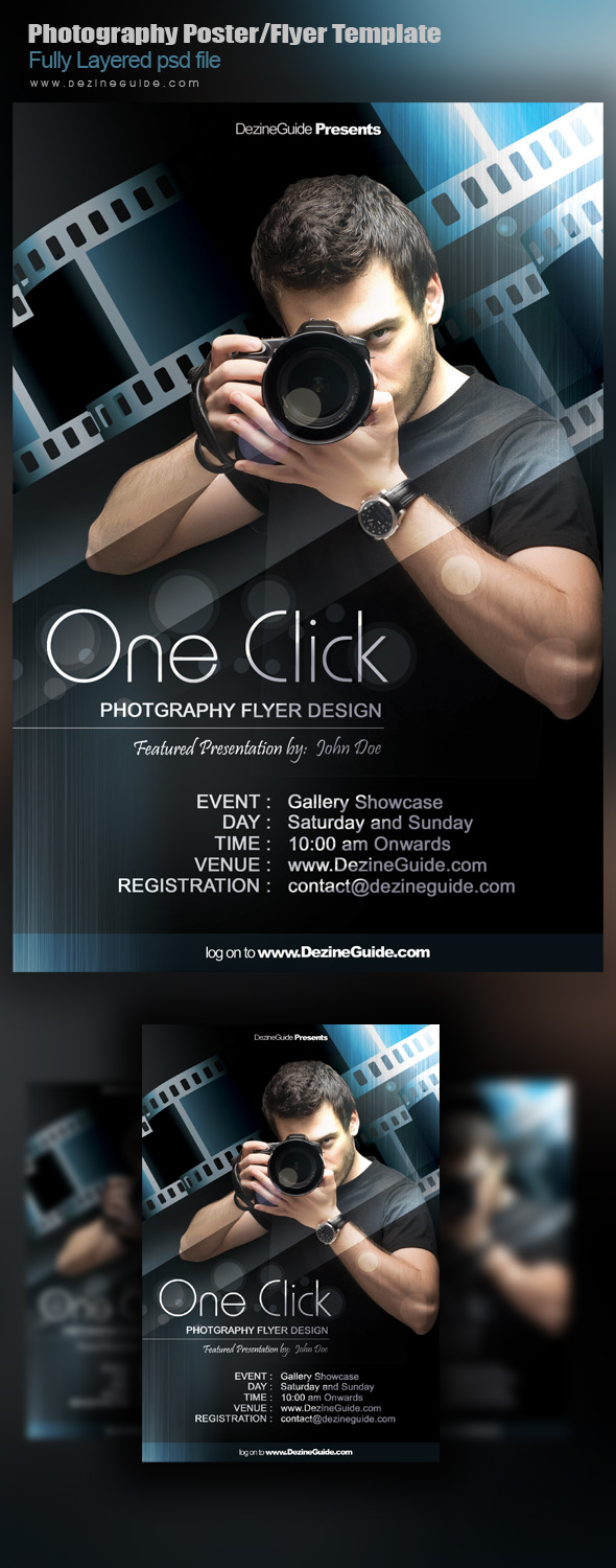 Poster design free download - Free Photography Flyer Poster Template