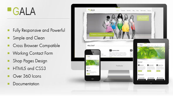 Gala – Responsive-Unique & Clean HTML5-CSS3 Template