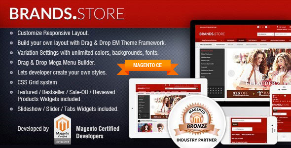 Gala Brand Store - Responsive Magento Template