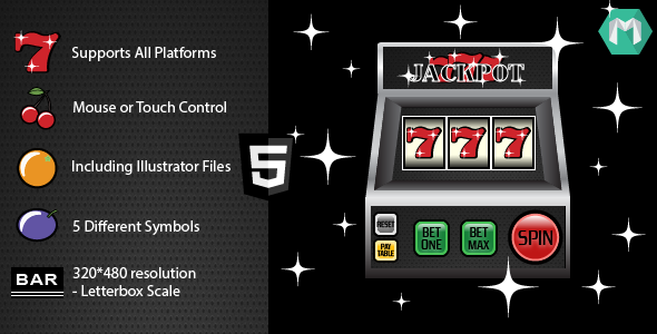 HTML5 Slot Machine-Jackpot 777