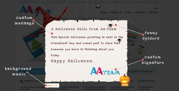 Halloween Pop-Up Card – WordPress Plugin