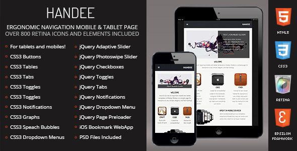 Handee-Mobile-Tablet Responsive Template