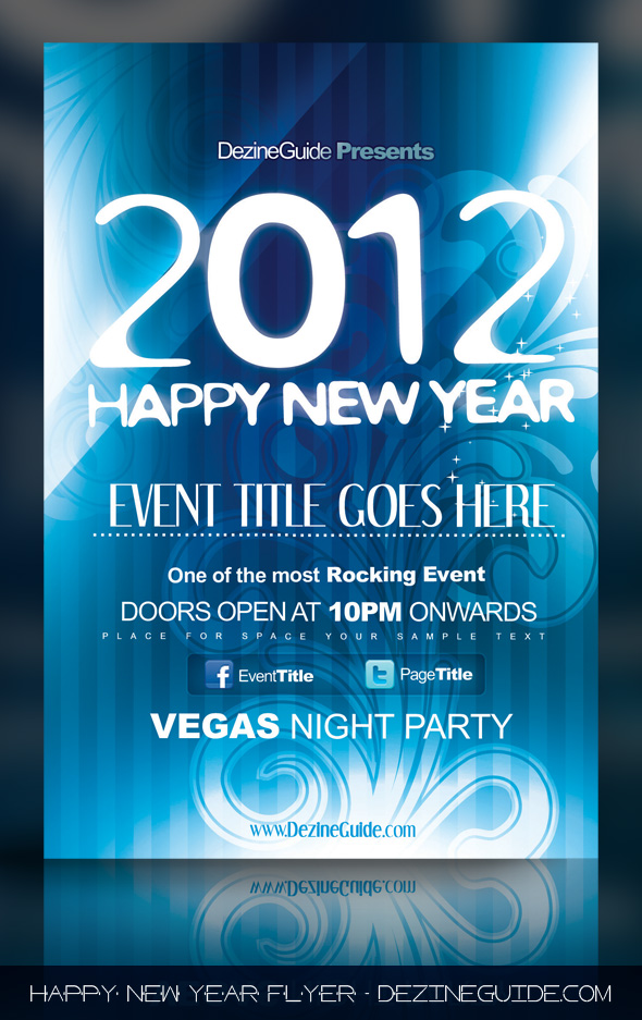 Happy New Year Flyer Poster Template