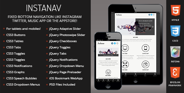 Instanav-Mobile-Tablet Responsive Template