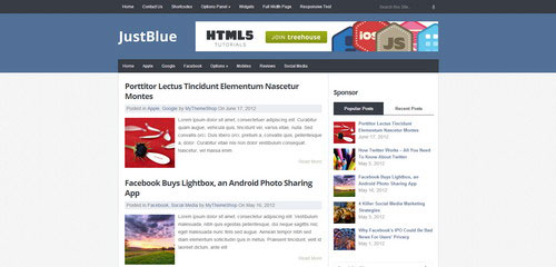 JUSTBLUE-WordPress-theme