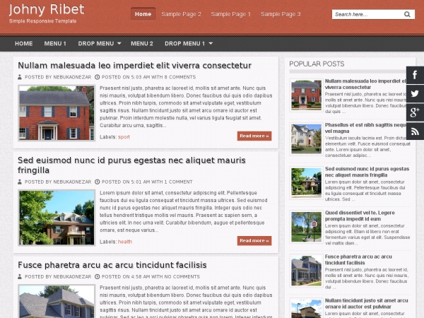 Johny Ribet Blogger Template
