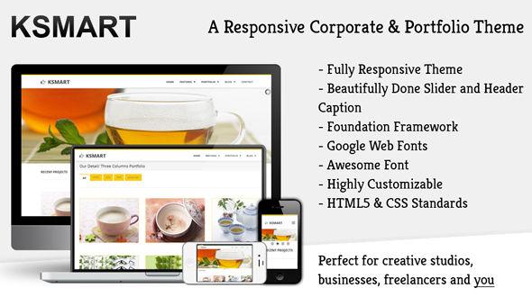 Ksmart – A Responsive HTML5-CSS Business Portfolio Theme