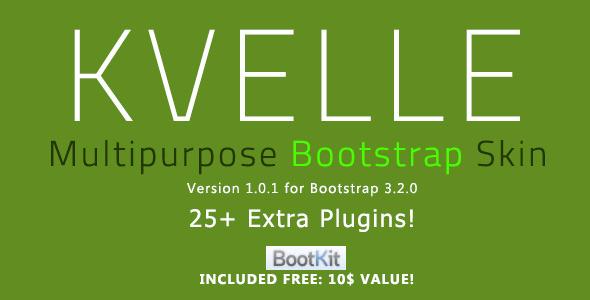 Kvelle - Multipurpose Bootstrap Skin