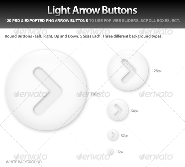 Light Arrow Buttons