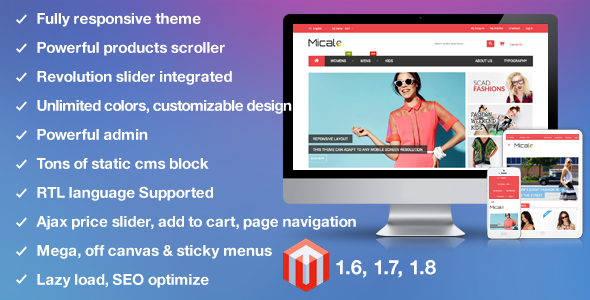 MT Micale Multi Purpose Responsive Magento Theme