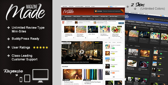 Made - Responsive Review-Magazine Theme
