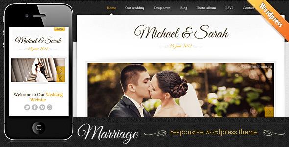 Marriage - Responsive Wedding WordPress Theme