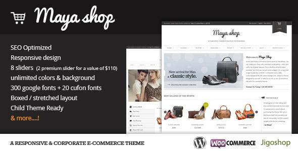 MayaShop - A Flexible Responsive e-Commerce Theme
