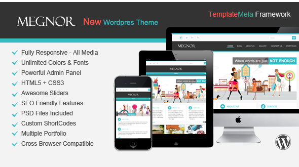 Megnor – Responsive Multi-Purpose WordPress Theme