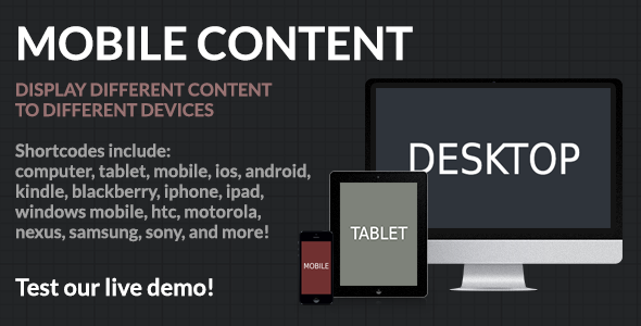 Mobile Content - Mobile Detection WordPress Plugin