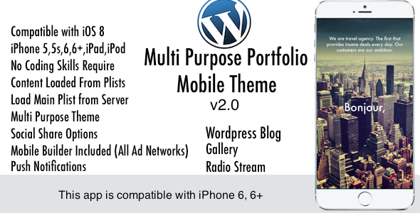 Multi Purpose Mobile Theme