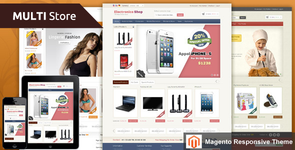 Multi Store - Magento Responsive Theme