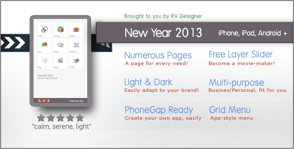 New Year 2013-Responsive Mobile Templ