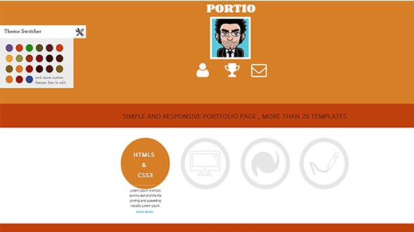 PORTIO – Responsive Portfolio Template