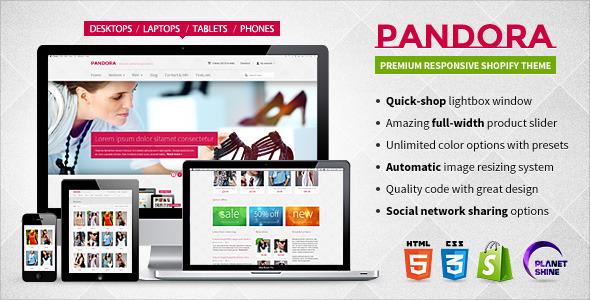 Pandora-Responsive Shopify HTML5 Theme