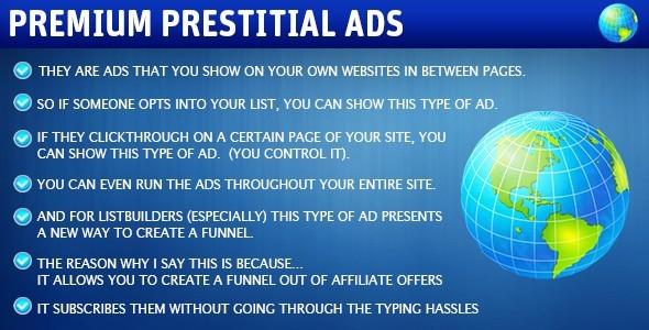 Premium Prestitial Ads