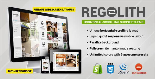 Regolith - Responsive Horizontal Shopify Theme