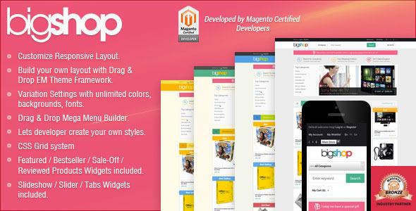 Responsive Magento Theme - Gala BigShop