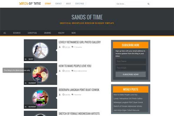 Responsive-Sands-of-Time-Blogger-Template