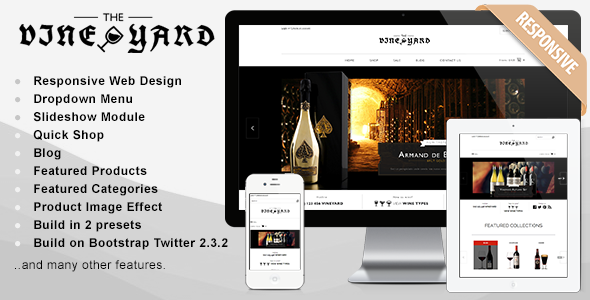 Responsive Shopify Theme - WineYard