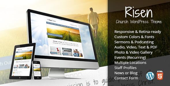 Risen - Church WordPress Theme