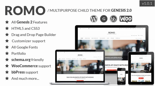 Romo – Multipurpose Child Theme for Genesis 2-0