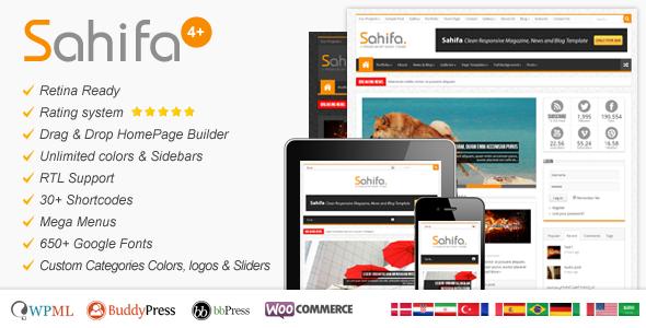 Sahifa - Responsive WordPress News-Magazine-Blog