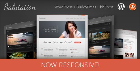 Salutation Responsive WordPress-BuddyPress Theme