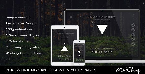 Sandglass - Responsive Countdown Landing Page