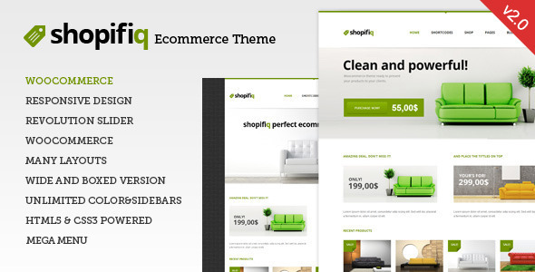 Shopifiq - Responsive WordPress WooCommerce Theme