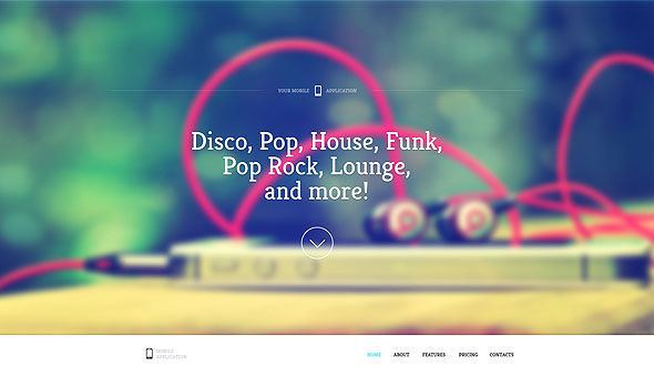 Sound – One Page Retina Site Template