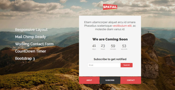 Spatial - Responsive Under Construction Template