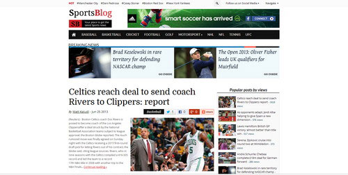 SportsBlog-WordPress-theme