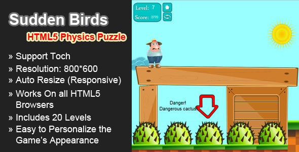 Sudden Birds - HTML5 physics game