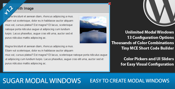 Sugar Modal Windows for WordPress