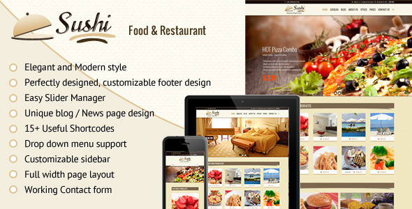 Sushi - Food-Restaurant Shopify Theme